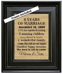 bronze anniversary gifts framed 8th wedding anniversary gift 8th anniversary gifts 8