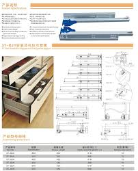 Kitchen Cabinet Drawer Construction 3t Bjh Heavy Duty Drawer Slide Roller Drawer Slide Kitchen