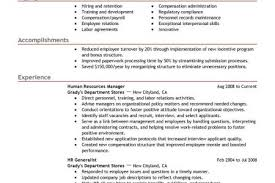 Hr Generalist Resume Examples by Best Human Resource Resumes Reentrycorps
