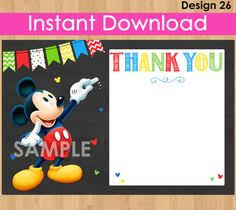 mickey mouse thank you cards mickey mouse thank you card mickey thank by kidspartyprintables