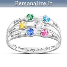 grandmother rings personalized birthstone ring my family my pride my