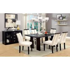 luminar dining table w 8mm tempered fog glass u0026 4 way adjustable