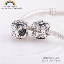 birthday charm bracelet aliexpress buy 925 sterling silver jewelry findings