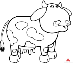 outline cow drawing contour free clipart design download