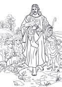 jesus the good shepherd coloring pages jesus u0027 parables coloring pages free coloring pages