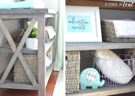 Changing Table Shelves by Ana White Rustic Grey Changing Table Diy Projects