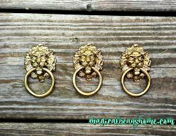 Bedroom Furniture Ring Pulls Ring Drawer Pulls Set Of 4 Golden Color Rustic Drawer Pulls
