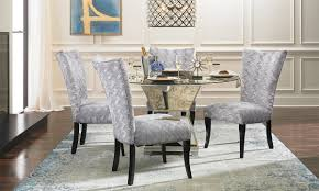 Mirrored Dining Room Furniture Contemporary Mirrored Dining Set Haynes Furniture Virginia S