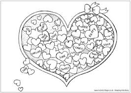 valentine u0027s day colouring pages