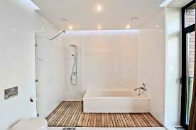 bahtroom small ceiling l above bamboo flooring bathroom with