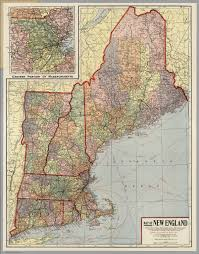 New England States Map by New England David Rumsey Historical Map Collection