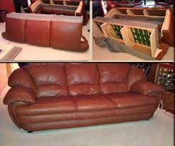furniture leather repair and restoration before and after pictures