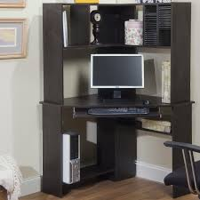 Bush Computer Desk With Hutch by Decorating Small Corner Desk With Hutch In Black For Home