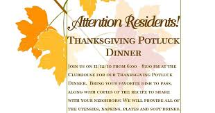 integra yearly thanksgiving potluck