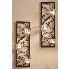 living room cool wall sconce candle set of two wall sconce candle