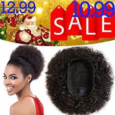 short ponytails for short african american hair amazon com curly ponytail afro pom pom hair drawstring ponytail
