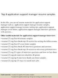 application support resume format 2506