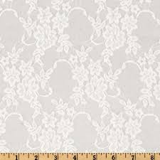 white lace stretch floral lace white discount designer fabric