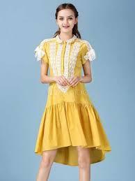 women u0027s shift dress two tone round neck cap sleeve ruffles shaping