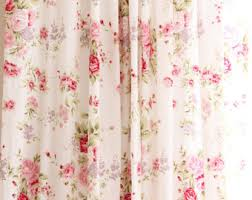 Shabby Chic Floral Curtains by Shabby Chic Rose Etsy