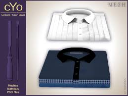 second life marketplace cyo folded dress shirt full perms mesh