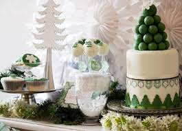 Christmas Dessert Table Decoration Ideas by Bn Black Book Of Parties Green And White Christmas Dessert Table