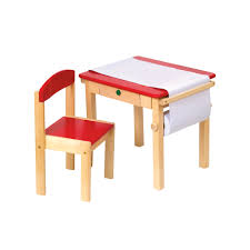Drawing Desk Kids Guidecraft Art Table U0026 Chair Set Red Guidecraft