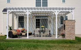 White Vinyl Pergola by Traditional Vinyl Pergolas River View Outdoor Products