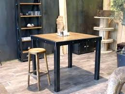 table haute cuisine bois table haute style industriel chaise de bar style industriel chaise