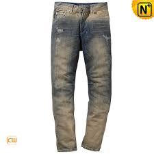Ripped Denim Jeans For Men Tapered Skinny Ripped Denim Jeans For Men Cw140239