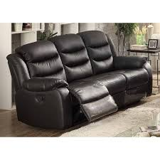 Black Leather Reclining Sofa And Loveseat Black Leather Reclining Sofa Free Shipping Today