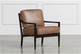 Brown Accent Chair Dominic Saddle Accent Chair Living Spaces