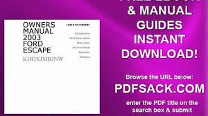 owners manual 2003 ford escape video dailymotion