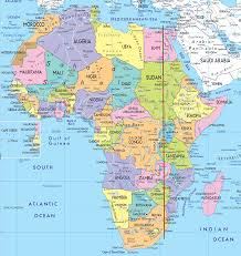 Continent World Map by Travel The Nilotic Meridian 31 Degrees East From Durban To Cairo