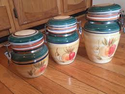 gibson ceramic canisters with locking lids apple kitchen decor