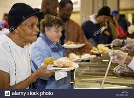 thanksgiving dinner for homeless stock photo royalty free