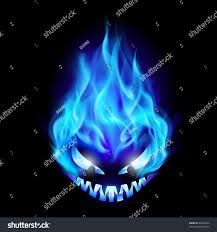 halloween lightning background blue evil burning halloween symbol illustration stock vector