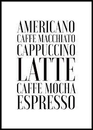 affiche cuisine posters sur le thème du café affiches de cuisine