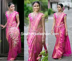 reception sarees for indian weddings south indian brides in wedding sarees fi south