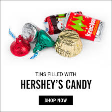 christmas tins christmas candy filled tins all tins by candy