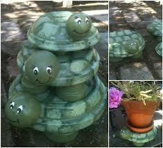 Garden Crafts Ideas - elegant terracotta garden decor creative ideas diy terracotta