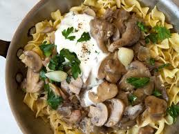 thanksgiving egg noodles slow cooker mushroom stroganoff with egg noodles recipe sarah