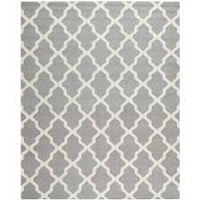 Black Grey And White Area Rugs by Shop Safavieh Cambridge Black And Ivory Rectangular Indoor Tufted