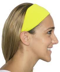 yellow headband neon yellow spandex fabric elastic headband headbands
