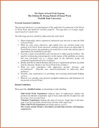 Curriculum Vitae Personal Statement Samples Social Work Personal Statement Examples Template