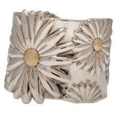 tiffany bracelet silver cuff images Tiffany co daisy cuff bracelet in sterling silver cowan 39 s jpg
