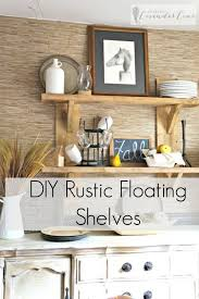 diy rustic floating shelves