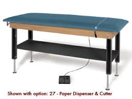 hausmann hand therapy table hausmann model 4719 hi lo power plinth table with shelf physical