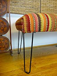 knock it off diy upholstered hairpin bench a designer at home