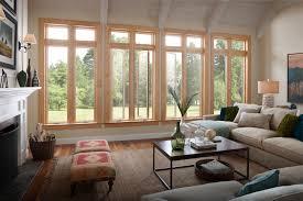 milgard living room wood windows essence series clear vertical